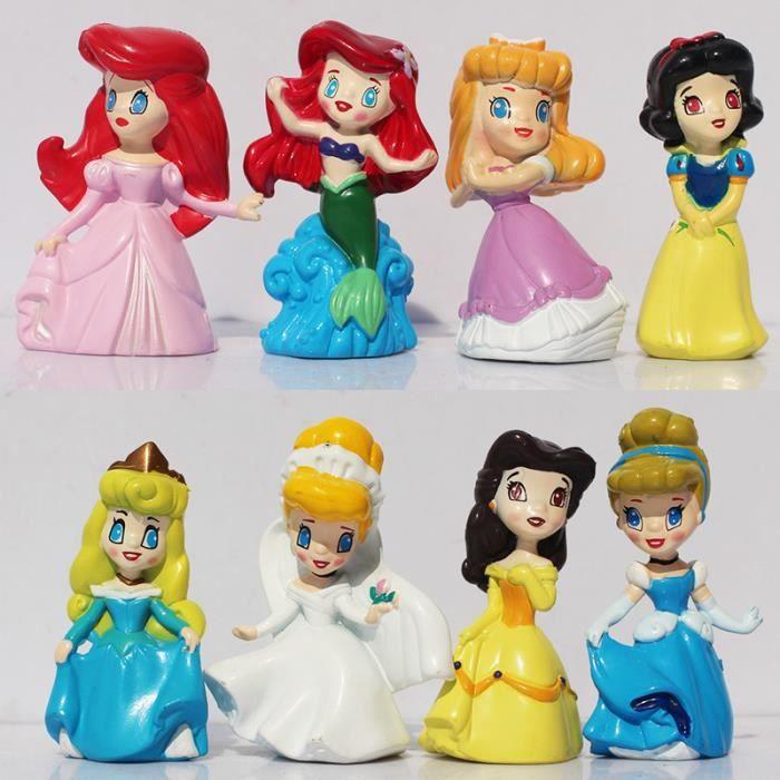 1 ensemble de 1 ensemble 8 pcs princesse blanche neige - Dessin anime princesse ariel ...