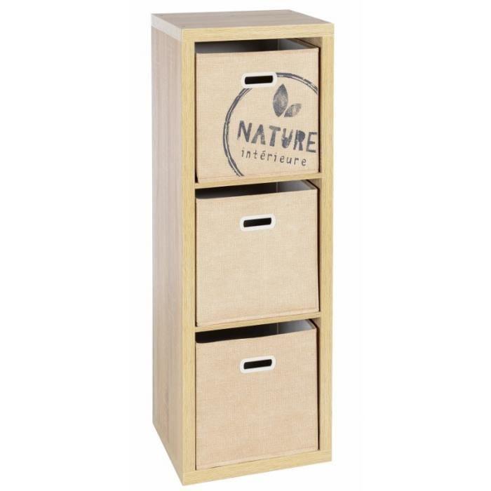 Meuble 3 paniers tiroirs etag re 3 niveaux achat - Meuble avec panier de rangement ...