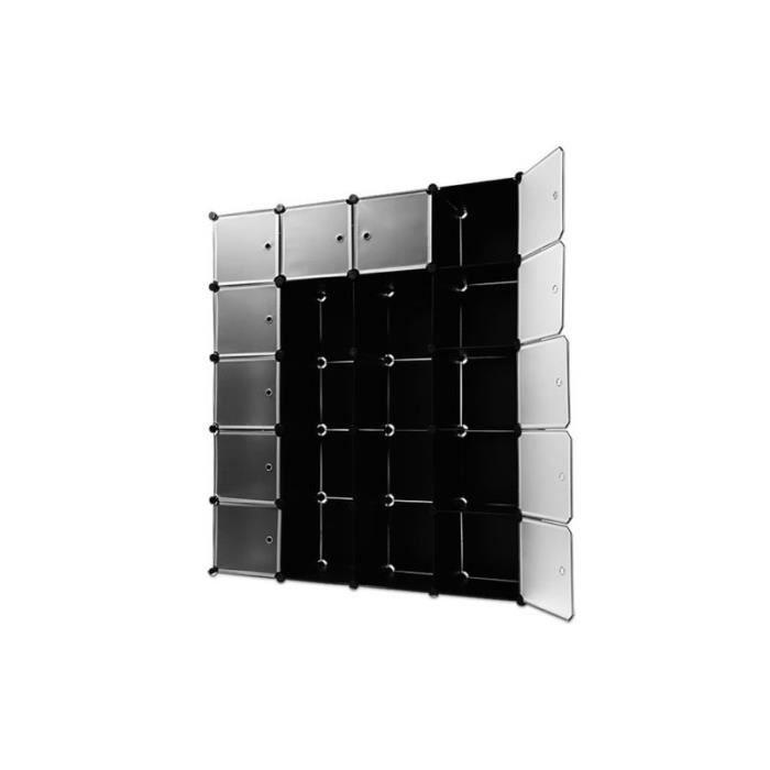 tag res armoire noire rangement plastique 20 casiers. Black Bedroom Furniture Sets. Home Design Ideas