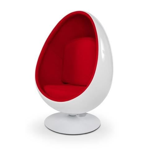 Fauteuil enfant oeuf ball pod blanc rouge achat vente - Fauteuil coquille d oeuf ...