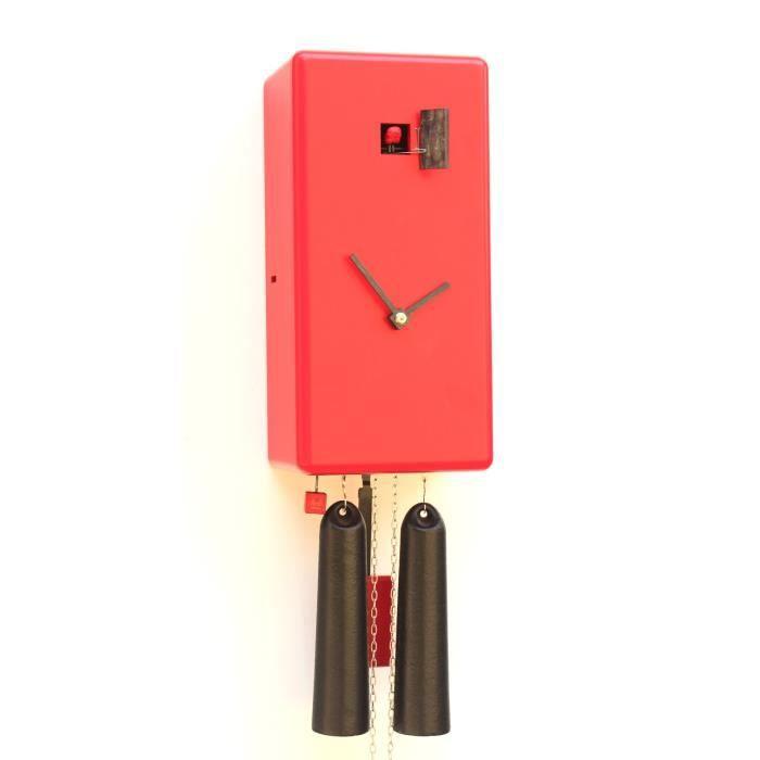 D sign pendule coucou cubo de rouge 8 jours achat vente horloge cdis - Pendule rouge design ...