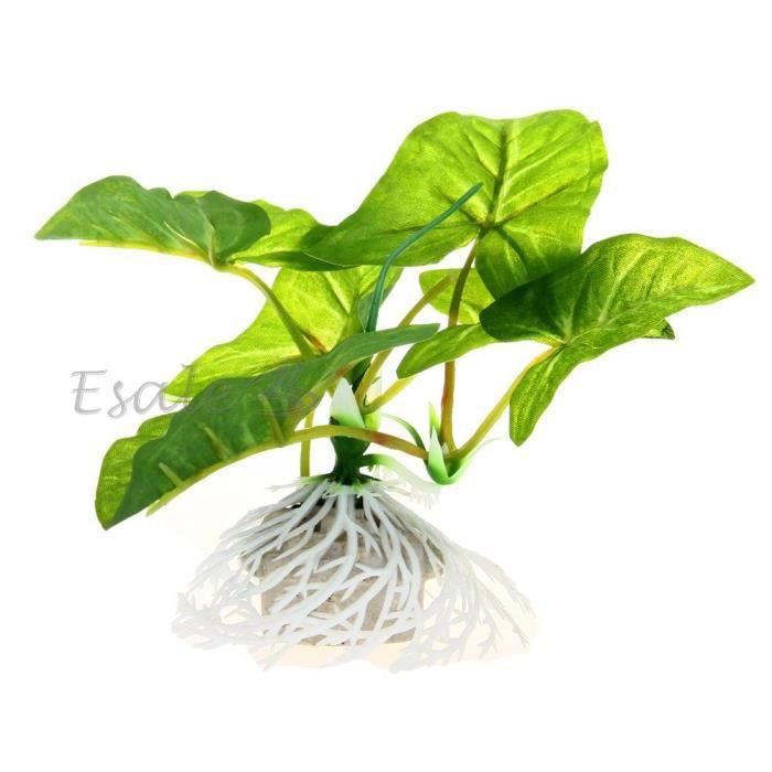 plante artificielle herbe aquatique plastique vert d co pour aquarium poisson achat vente. Black Bedroom Furniture Sets. Home Design Ideas