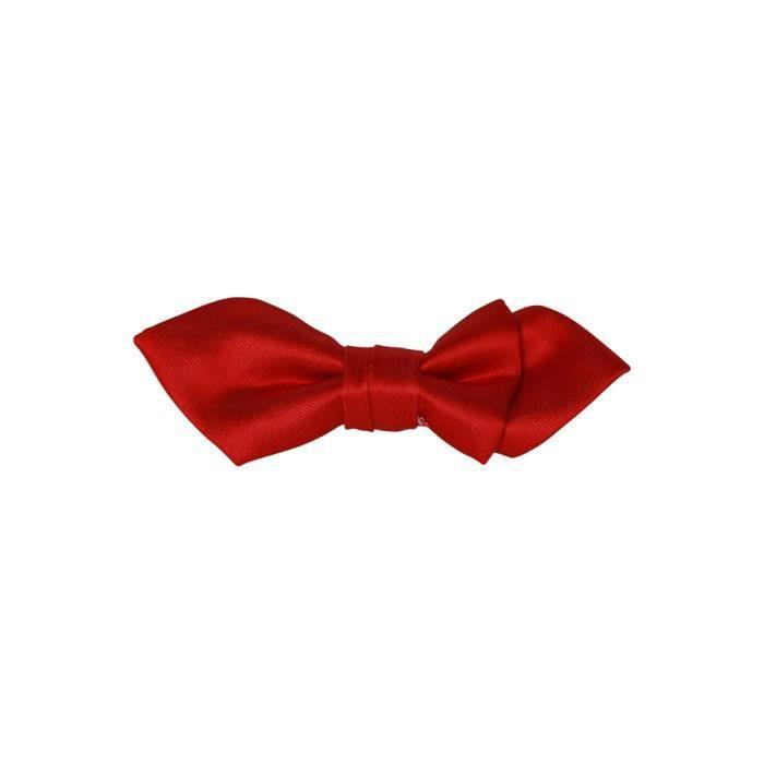 Noeud papillon enfant bouts pointu couleur ro rouge - Noeud papillon rouge enfant ...