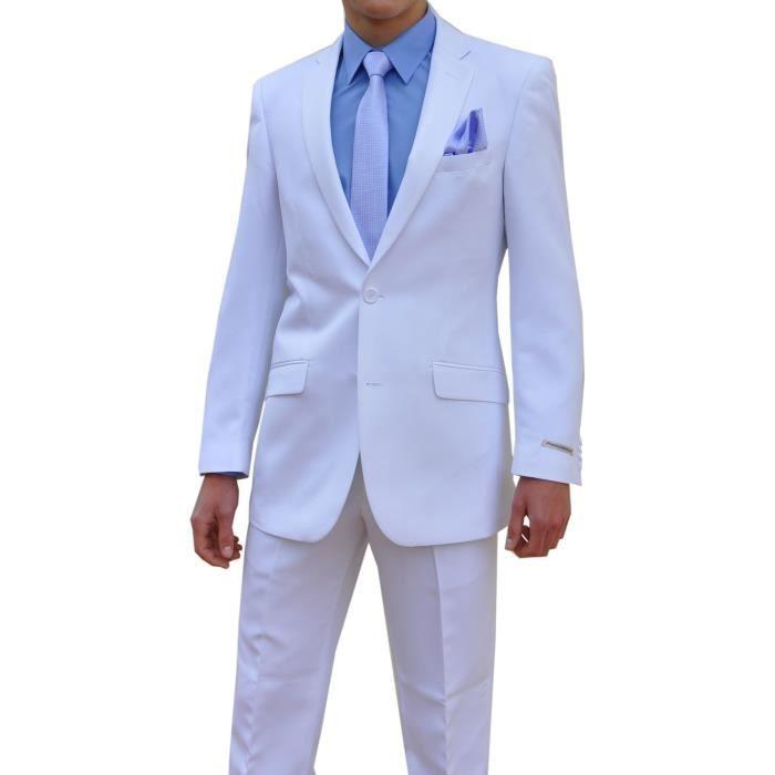 costume blanc pour homme veste blanc achat vente. Black Bedroom Furniture Sets. Home Design Ideas