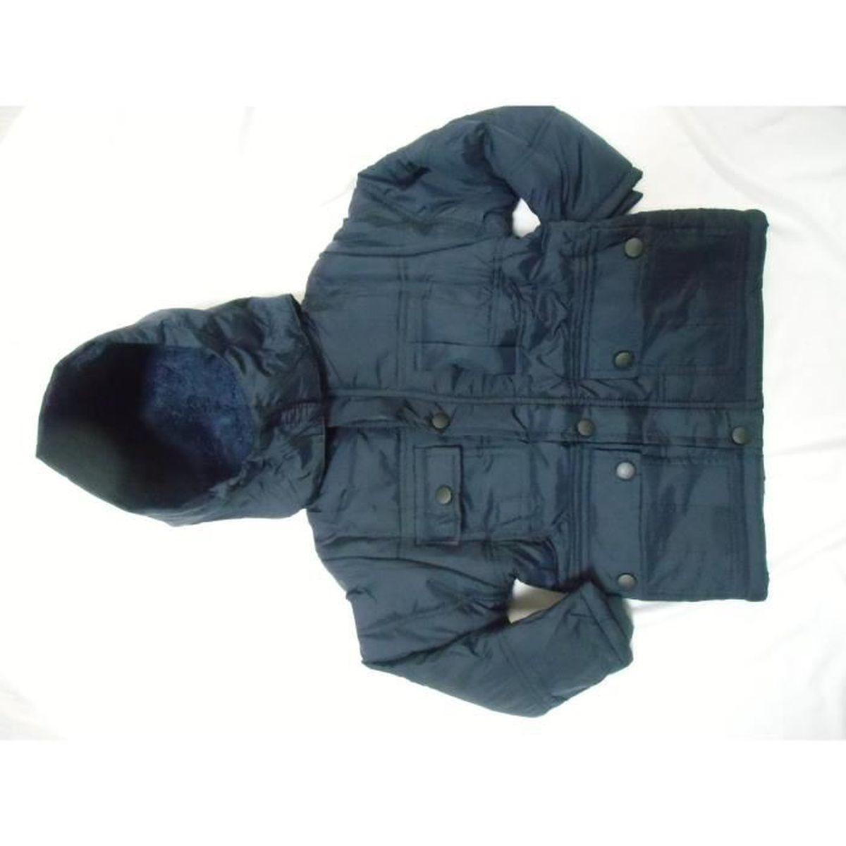 blouson gar on 4 ans bleu marine enfant veste parka. Black Bedroom Furniture Sets. Home Design Ideas