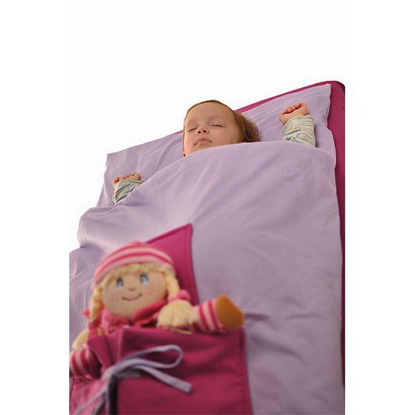 parure de lit b b enfant 3 pi ces avec poche d rose. Black Bedroom Furniture Sets. Home Design Ideas