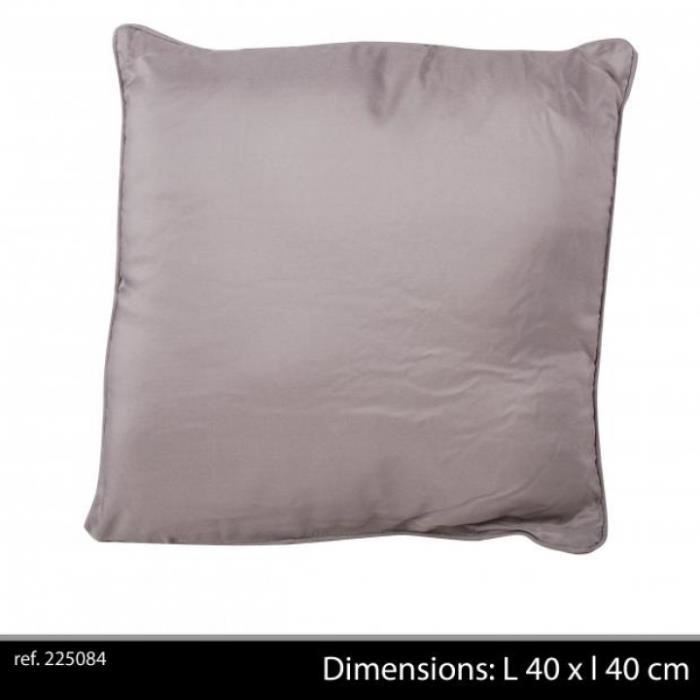 Coussin 100 polyester lit fauteuil canap uni taupe 40 x 40 cm achat ve - Coussin anti transpirant ...