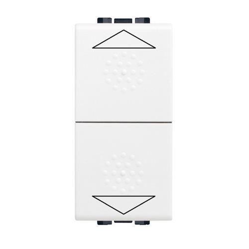 bouton poussoir pour commande volets roulants 1 module bticino living light blanc achat. Black Bedroom Furniture Sets. Home Design Ideas