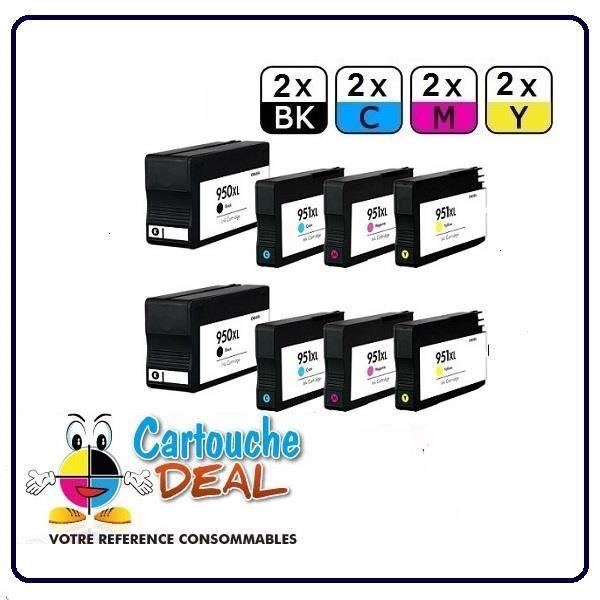 2 6 pack cartouche g n rique compatible hp 950xl hp 951xl prix pas cher les soldes sur. Black Bedroom Furniture Sets. Home Design Ideas
