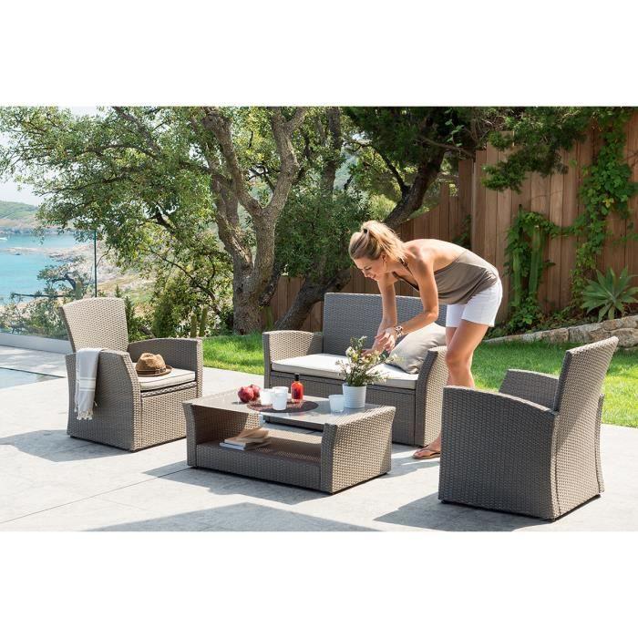 Salon de jardin bora bora achat vente salon de jardin for Achat meuble jardin