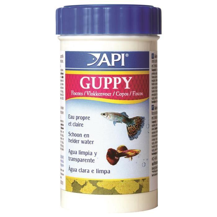 Api guppy flocons pour poisson 10 g achat vente for Flocon pour poisson
