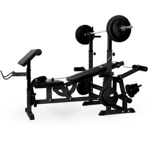 banc de musculation avec barre et poids achat vente pas cher cdiscount. Black Bedroom Furniture Sets. Home Design Ideas