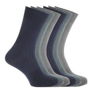 CHAUSSETTES FLOSO - Chaussettes striées (6 paires) - Homme