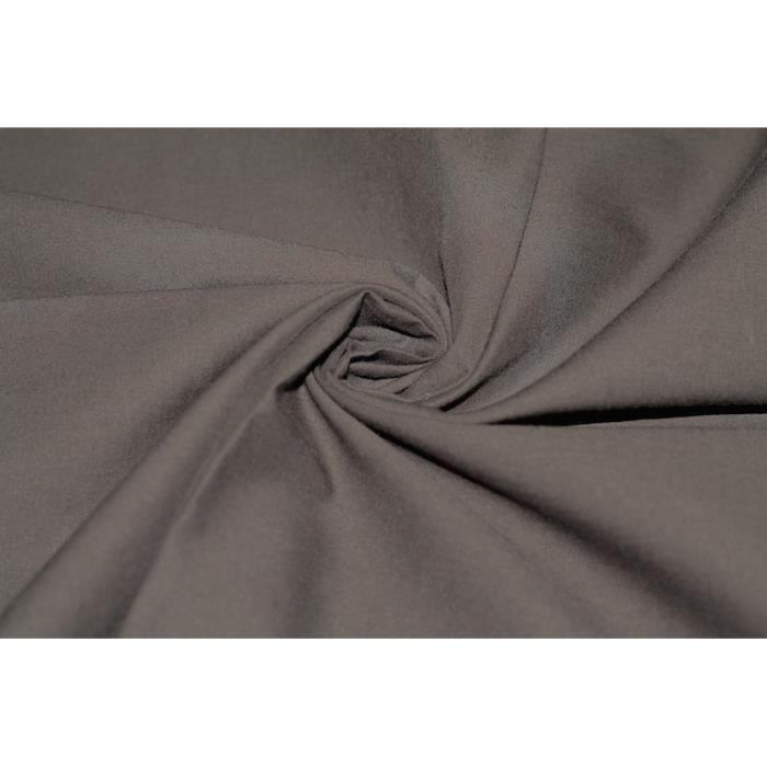 Tissu voile uni 100 coton marron au m tre achat vente tissu tissu voile uni 100 coton m - Voile de forcage au metre ...