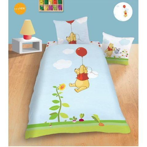 housse de couette winnie l 39 ourson sunflowers taie achat
