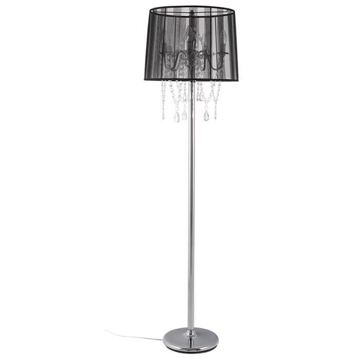 lampadaire design baroque avec abat jour noir achat vente lampadaire design baroque a. Black Bedroom Furniture Sets. Home Design Ideas
