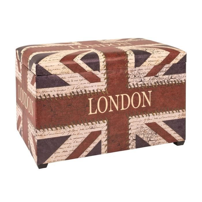 Union jack coffre de rangement pliable en simili coffre de rangement achat - Malle drapeau anglais ...