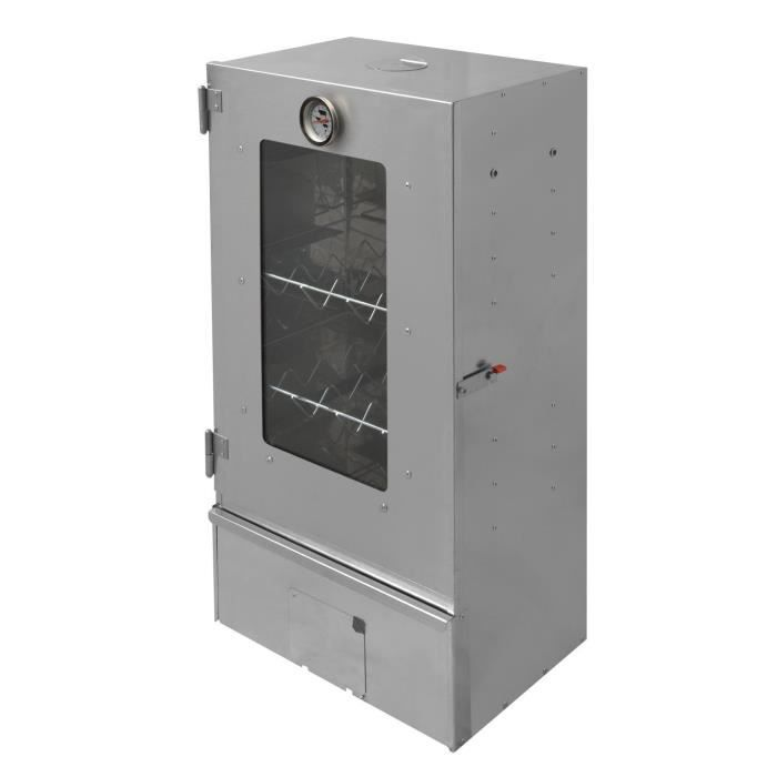 Le fumoir xl acier inoxydable le fumoir a 3 tages for Fumoir a froid maison