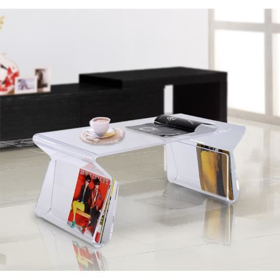 table basse acrylique transparent neuf46 achat vente table basse table basse acrylique trans. Black Bedroom Furniture Sets. Home Design Ideas