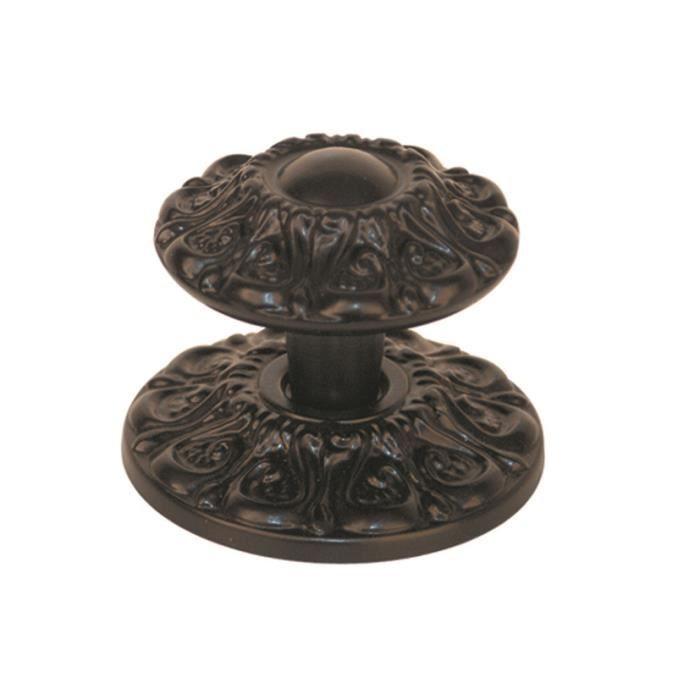 Bouton de porte marguerite coloris noir achat vente for O meuble sainte marguerite
