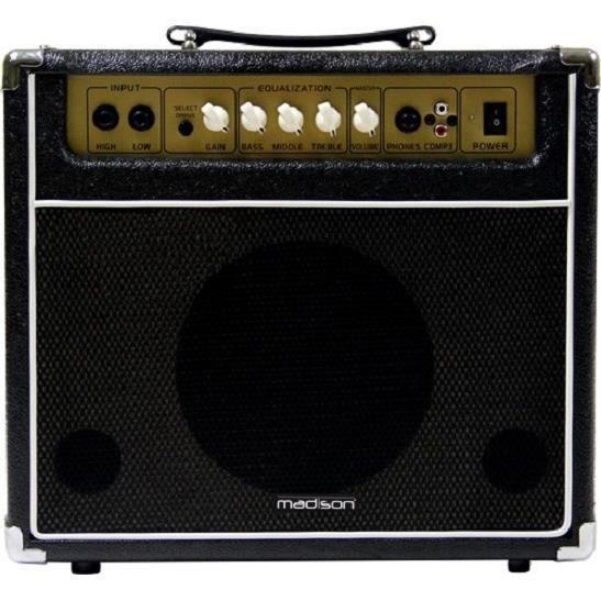 ampli guitare 40w madison ga40 noir amplificateur. Black Bedroom Furniture Sets. Home Design Ideas