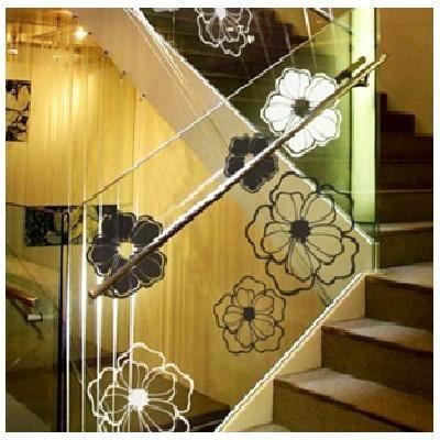 sticker p tales de fleurs coller sur vitres achat vente stickers cdiscount. Black Bedroom Furniture Sets. Home Design Ideas