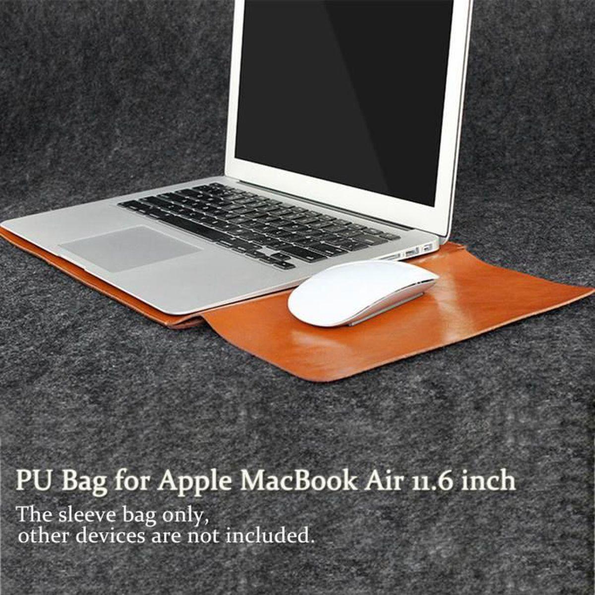vococal pu cuir ordinateur portable sac pochette avec. Black Bedroom Furniture Sets. Home Design Ideas
