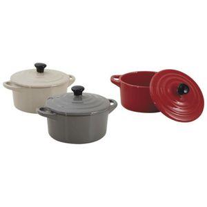 mini cocotte ceramique achat vente mini cocotte ceramique pas cher cdiscount. Black Bedroom Furniture Sets. Home Design Ideas