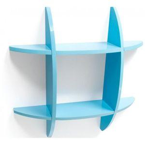 etagere murale bleu achat vente etagere murale bleu pas cher cdiscount. Black Bedroom Furniture Sets. Home Design Ideas