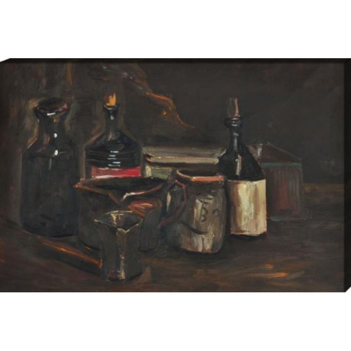 vincent van gogh poster reproduction sur toile tendue sur ch ssis nature morte avec. Black Bedroom Furniture Sets. Home Design Ideas