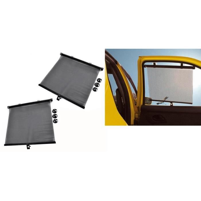 lot de 2 pare soleil store retractable 45x54cm n achat. Black Bedroom Furniture Sets. Home Design Ideas