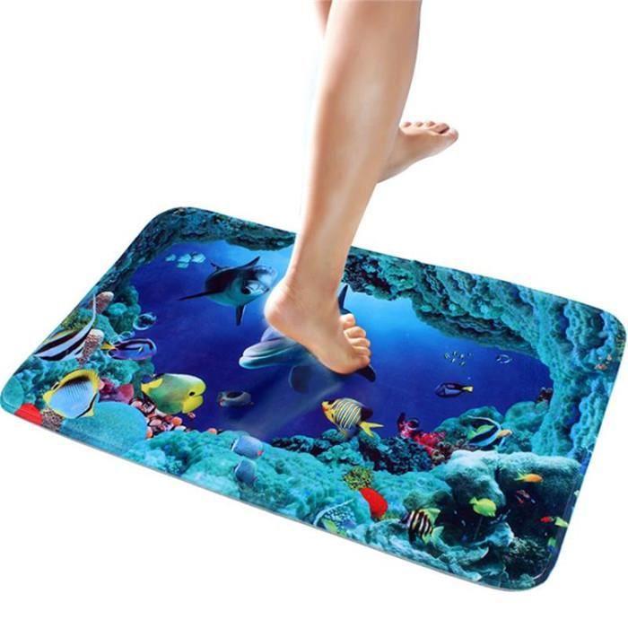 Tapis de salle de bain tapis de bain le monde sous marin tapis salon couverture carpette 40x60cm - Tapis tout le monde bochart ...