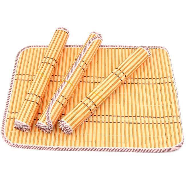 Classique de la d coration de table le set en bambou se - Chemin de table asiatique ...