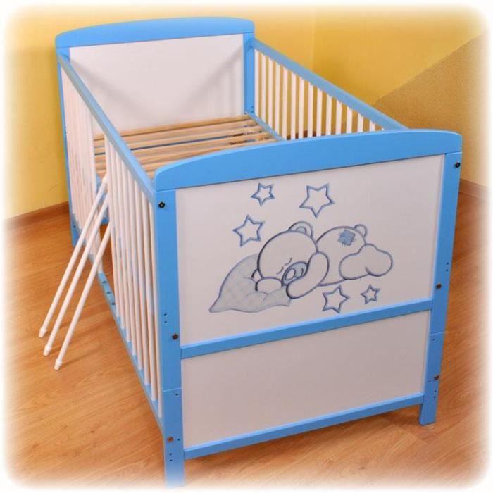 lit d enfant transformable barreaux 19 achat vente lit non pliant b b lit d enfant. Black Bedroom Furniture Sets. Home Design Ideas