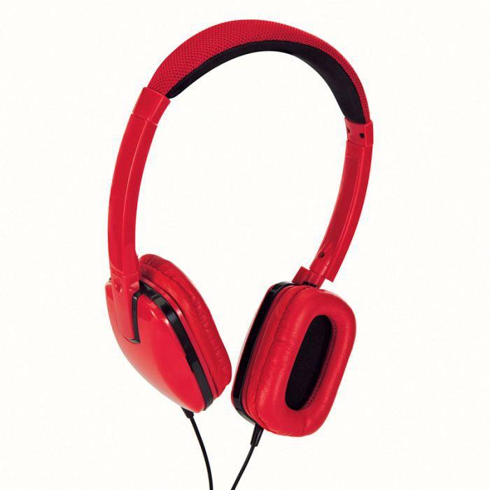 casque rouge avec couteurs carr s tec549r casque couteur audio avis et prix pas cher. Black Bedroom Furniture Sets. Home Design Ideas