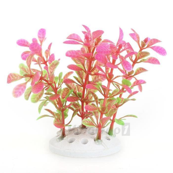 plante artificielle aquatique en plastique rose vert d coration aquarium achat vente d co. Black Bedroom Furniture Sets. Home Design Ideas