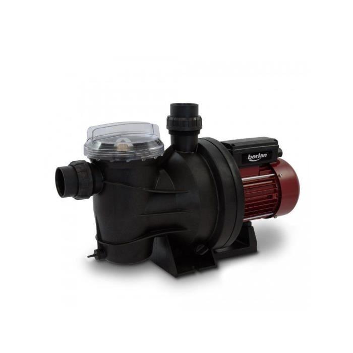 Pompe de filtration pour piscine 800 w 15 m3 h berlan for Pompe pour piscine autoportee