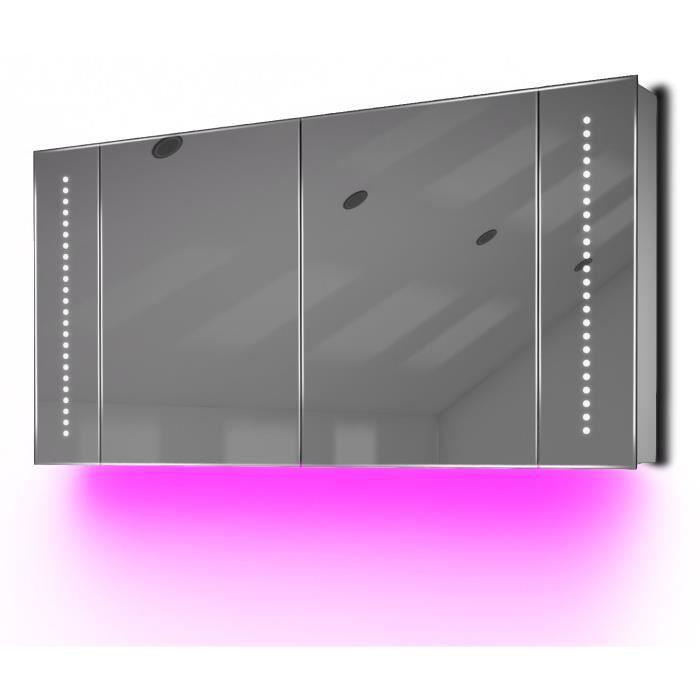 armoire de toilette anti bu e avec capteur et prise rasoir int rieure k126p rose taille l. Black Bedroom Furniture Sets. Home Design Ideas