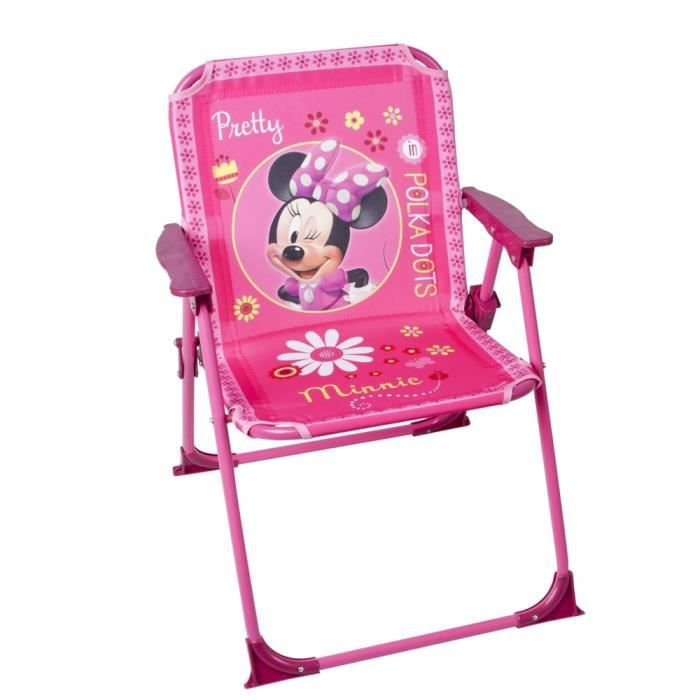 Chaise pliable pour enfant minnie mouse achat vente - Chaise enfant pliable ...