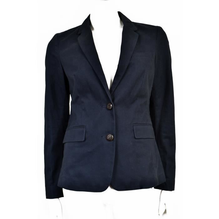 mango veste de tailleur bleu marine en coton t 36 bleu achat vente veste cadeaux de. Black Bedroom Furniture Sets. Home Design Ideas