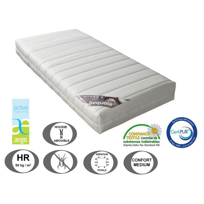 matelas relaxation s quoia 21 cm 80 x 200 achat. Black Bedroom Furniture Sets. Home Design Ideas