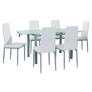 Table extensible achat vente table extensible pas cher cdiscount - Table a manger 6 chaises ...