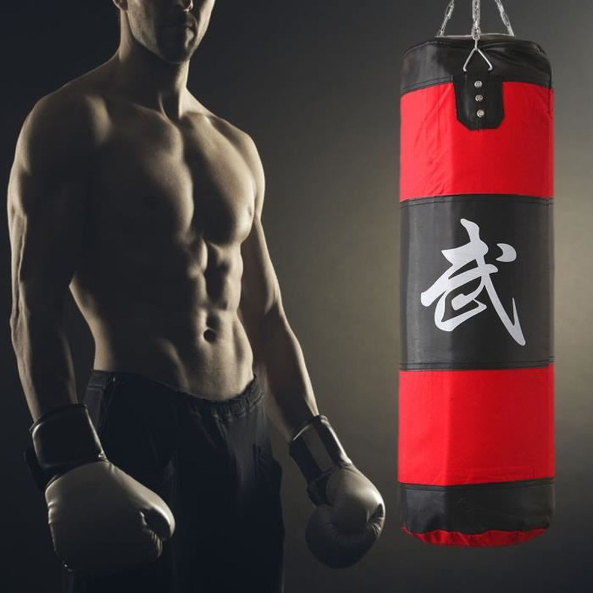 sac de frappe boxing sport fitness combat punching boxe. Black Bedroom Furniture Sets. Home Design Ideas