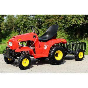 Tracteur pour enfant 110 cc avec remorque rouge achat vente tracteur chantier cdiscount - Tracteur remorque enfant ...