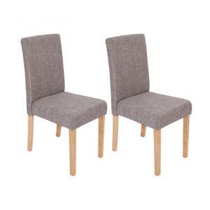 chaises de salle a manger gris clair - achat / vente chaises de ... - Chaise Salle A Manger Grise