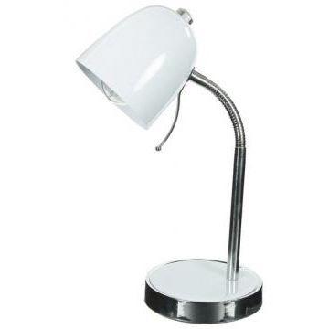 Lampe De Bureau En M Tal Blanc Achat Vente Lampe De
