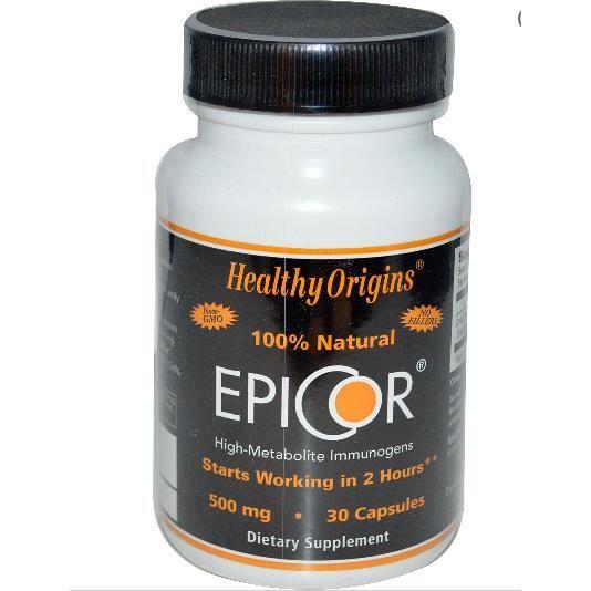 healthy origins epicor 500 mg 30 capsules achat vente d fense immunitaire healthy origins. Black Bedroom Furniture Sets. Home Design Ideas