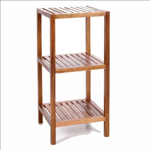 rangement salle de bain bambou 3 niveaux achat vente petit meuble rangement rangement salle. Black Bedroom Furniture Sets. Home Design Ideas