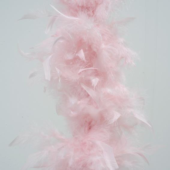 Guirlande de no l boa en plume rose poudr achat vente for Decoration maison rose poudre
