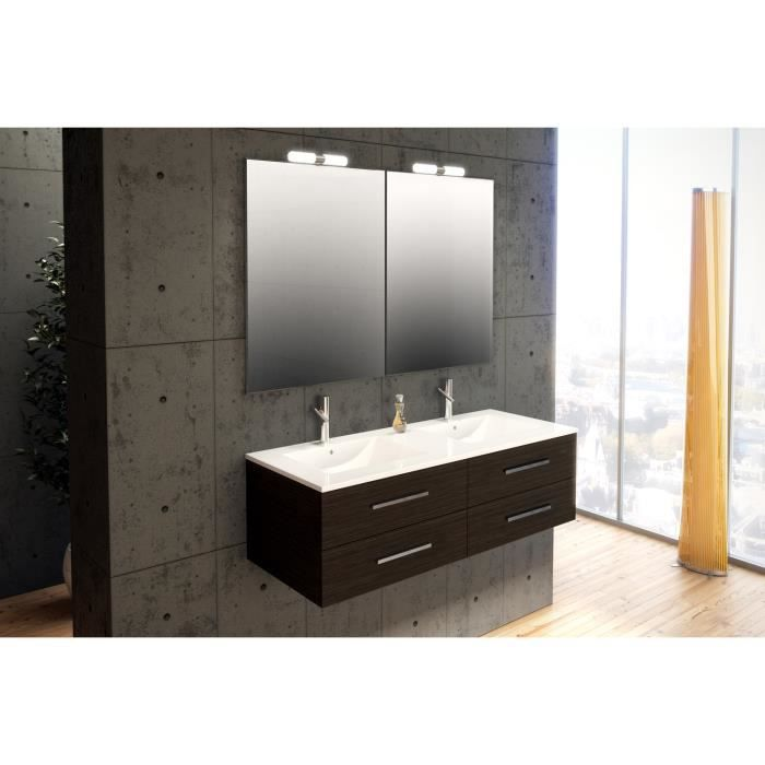 S ville weng meuble de salle bain suspendu 120 cm achat - Meubles salle de bain cdiscount ...
